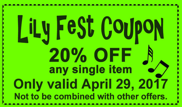 Lily Fest 2017 Coupon